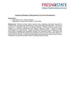 Intergroup Dialogue Undergraduate Curriculum Development