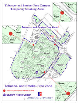 Tobacco- and Smoke- Free Campus Temporary Smoking Areas