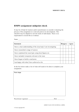 RMPS assignment midpoint check