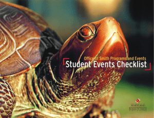 Student Events Checklist Office of Smith Programs and Events