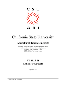 California State University Agricultural Research Institute