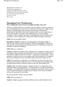 Page 1 of 4 Managing Your Weaknesses