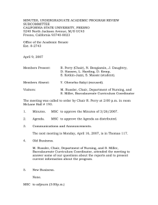 MINUTES, UNDERGRADUATE ACADEMIC PROGRAM REVIEW SUBCOMMITTEE CALIFORNIA STATE UNIVERSITY, FRESNO
