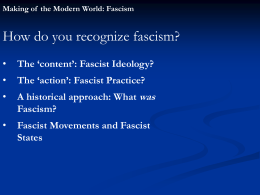 How do you recognize fascism? was