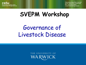 SVEPM Workshop Governance of Livestock Disease