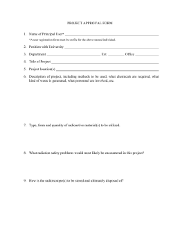 PROJECT APPROVAL FORM 1.  Name of Principal User