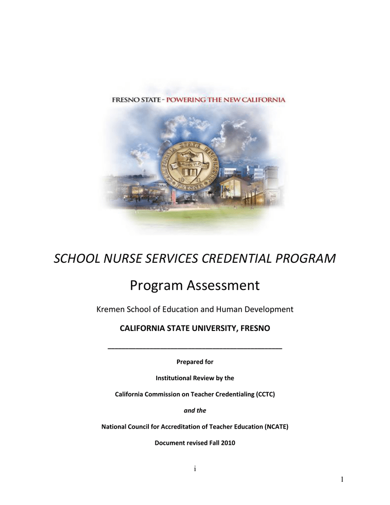 Program assessment school nurse services credential program fandeluxe Choice Image