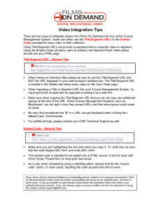 Video Integration Tips