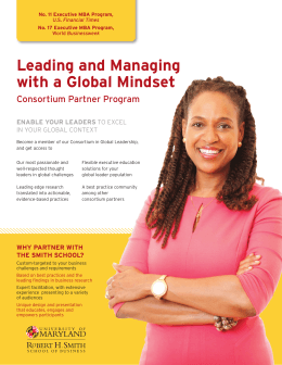 Leading and Managing with a Global Mindset Consortium Partner Program ENABLE YOUR LEADERS