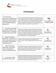 CQI Bibliography 1. ACF Information Memorandum: Establishing and