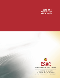 2010-2011 Academic Year Annual Report
