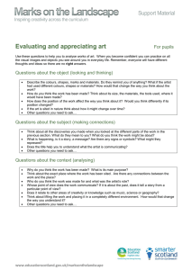 Evaluating and appreciating art  For pupils