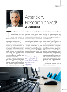 T Attention, Research ahead! Dr Ernest Cachia