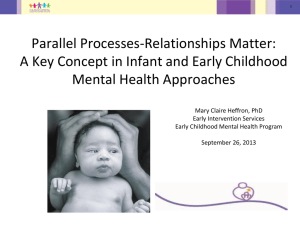 Parallel Processes-Relationships Matter: A Key Concept in Infant and Early Childhood