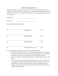 Project Committee Form