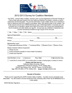 2012-2013 Survey for Coalition Members
