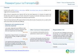 France – Focus on Expressive Arts Second  level Overview