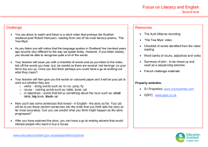 Focus on Literacy and English Challenge Resources