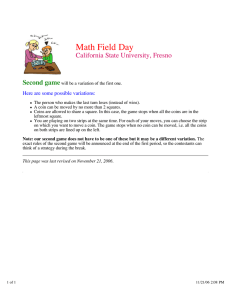 Math Field Day California State University, Fresno Second game
