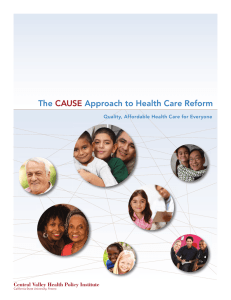The Approach to Health Care Reform  CAUSE