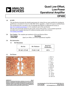 Quad Low-Offset, Low-Power Operational Amplifier