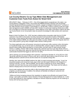 Lee County Electric Co-op Taps Meter Data Management and