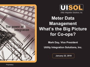 Meter Data Management What's the Big Picture for Co-ops?