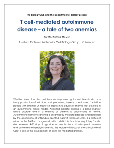 T cell-mediated autoimmune disease – a tale of two anemias