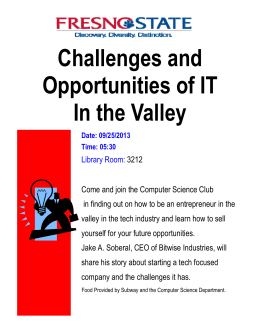 Challenges and Opportunities of IT In the Valley