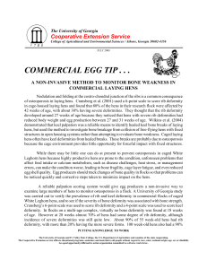 COMMERCIAL EGG TIP . . . Cooperative Extension Service COMMERCIAL LAYING HENS