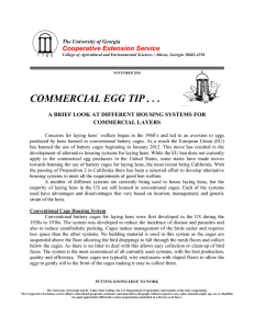 COMMERCIAL EGG TIP . . . Cooperative Extension Service COMMERCIAL LAYERS
