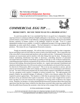 COMMERCIAL EGG TIP . . . Cooperative Extension Service