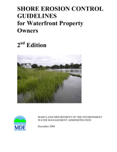 SHORE EROSION CONTROL GUIDELINES for Waterfront Property Owners