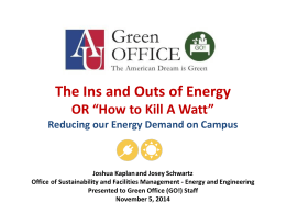 The Ins and Outs of Energy