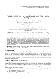Prediction of Risk Score for Heart Disease in India Using... Intelligence K. Rajeswari , Dr. V. Vaithiyanathan