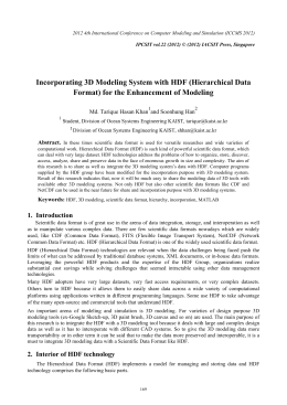 Incorporating 3D Modeling System with HDF (Hierarchical Data and Soonhung Han
