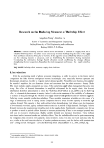 Research on the Reducing Measures of Bullwhip Effect , Baizhou He