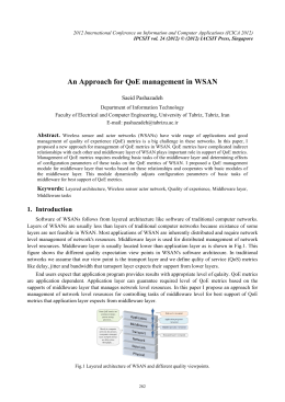 An Approach for QoE management in WSAN Saeid Pashazadeh