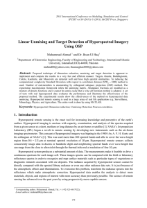 Linear Unmixing and Target Detection of Hyperspectral Imagery Using OSP Muhammad Ahmad