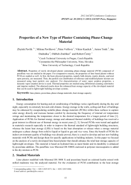 Properties of a New Type of Plaster Containing Phase-Change Material