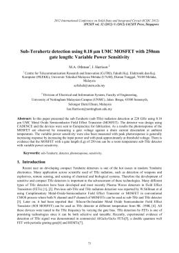 Sub-Terahertz detection using 0.18 µm UMC MOSFET with 250nm M.A. Othman