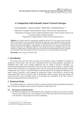 A Comparison with Semantic Sensor Network Storages Hani Moghaddam , Maysam Gharghi