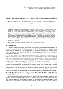 Fault Prediction Model for Web Application Using Genetic Algorithm Mohamad