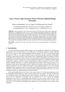 Type 2 Fuzzy Logic System in Water Network Optimal Design Procedure