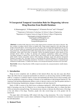 N-Unexpected Temporal Association Rule for Diagnosing Adverse K.Shanmugapriya , D.Shanmugapriya