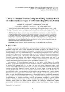 A Study of Vibration Parameter Image for Rotating Machinery Based