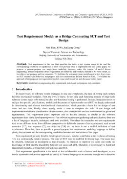 Test Requirement Model: as a Bridge Connecting SUT and Test Design