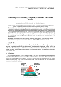 Facilitating Active Learning Using Subject-Oriented Educational Process