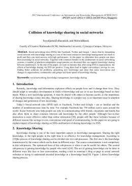 Collision of knowledge sharing in social networks SeyedjamalZolhavarieh, and MoloodBarati Abstract.