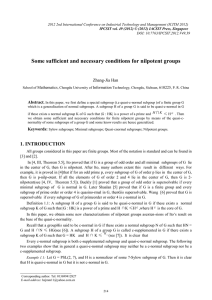 Some sufficient and necessary conditions for nilpotent groups  Zhang-Jia Han Abstract